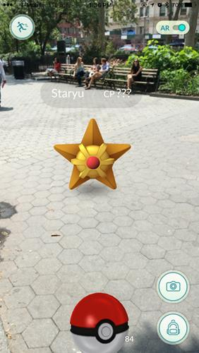 Capturing Pokemon with pokeballs